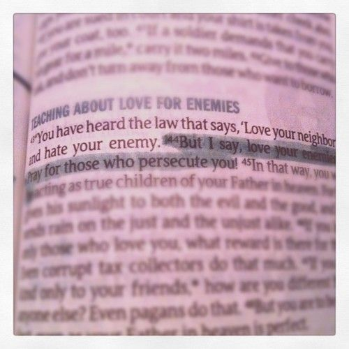 Bible Quotes Enemies: Love Your Enemies