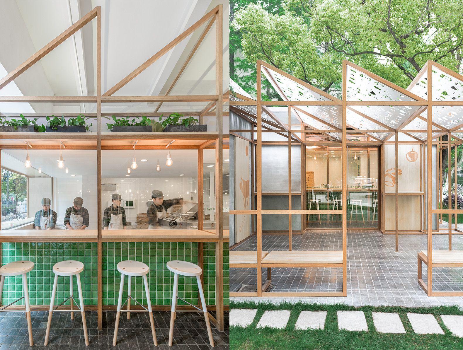 Architecture Restaurant Interior Design Natural Light Greenhouse