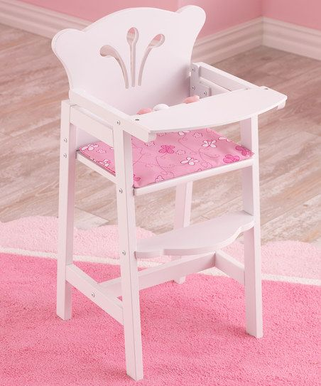 KidKraft White Lil High Chair & Pad for 18 Doll   zulily