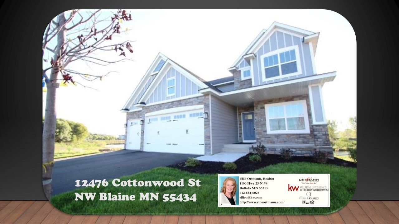 12476 Cottonwood St Nw Blaine Mn 55434 This New Construction Home