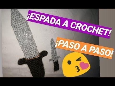 -ESPADA MINECRAFT A GANCHILLO CROCHET  PASO A PASO YouTube Amigurumipasoapaso Cr...