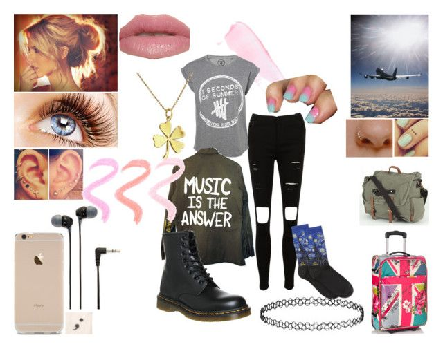 """Landing in Australia"" by beccaconnor ❤ liked on Polyvore featuring Sony, HOT SOX, Dr. Martens, Urban Decay, Accessorize, Billabong, Topshop, 5sos, docmartens and 5secondsofsummer"