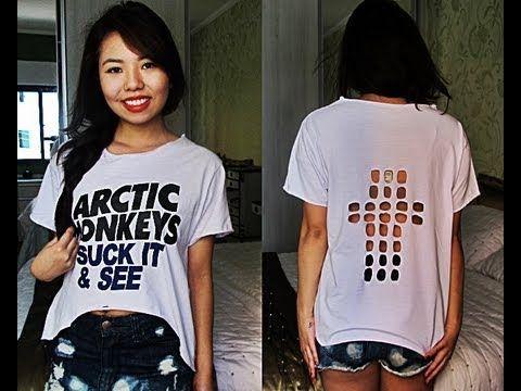 ✂ DIY | Faça você mesma : Customizando camiseta de banda