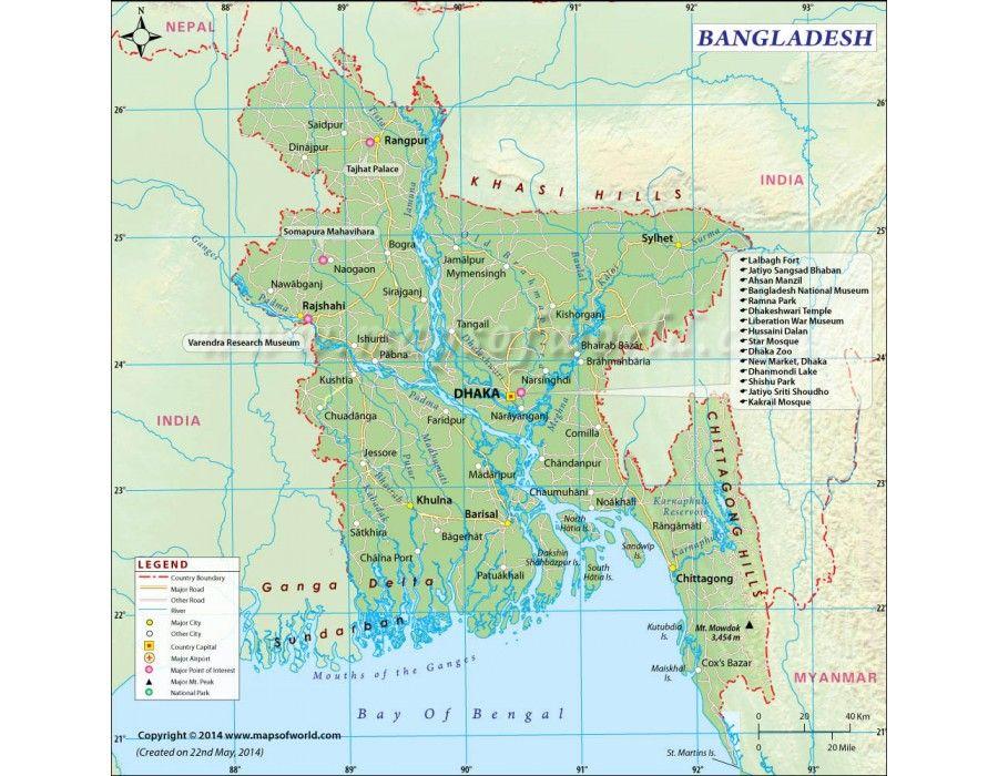 Buy Digital Map Of Bangladesh Bangladesh Printable Map Bangladesh