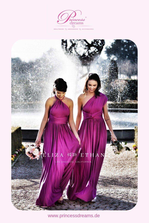 Wickelkleid für Brautjungfern in magenta! Das wunderschöne lila