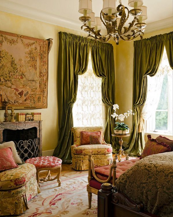Traditional Bedroom Designs Adorable Traditional Bedroom Ideas With Green Drapes  Bedroom 2018