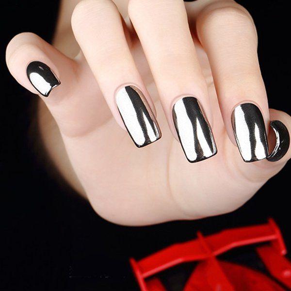 6pcs Nail Art Magic Mirror Glitter Powder Dust Chrome UV Gel + Base ...