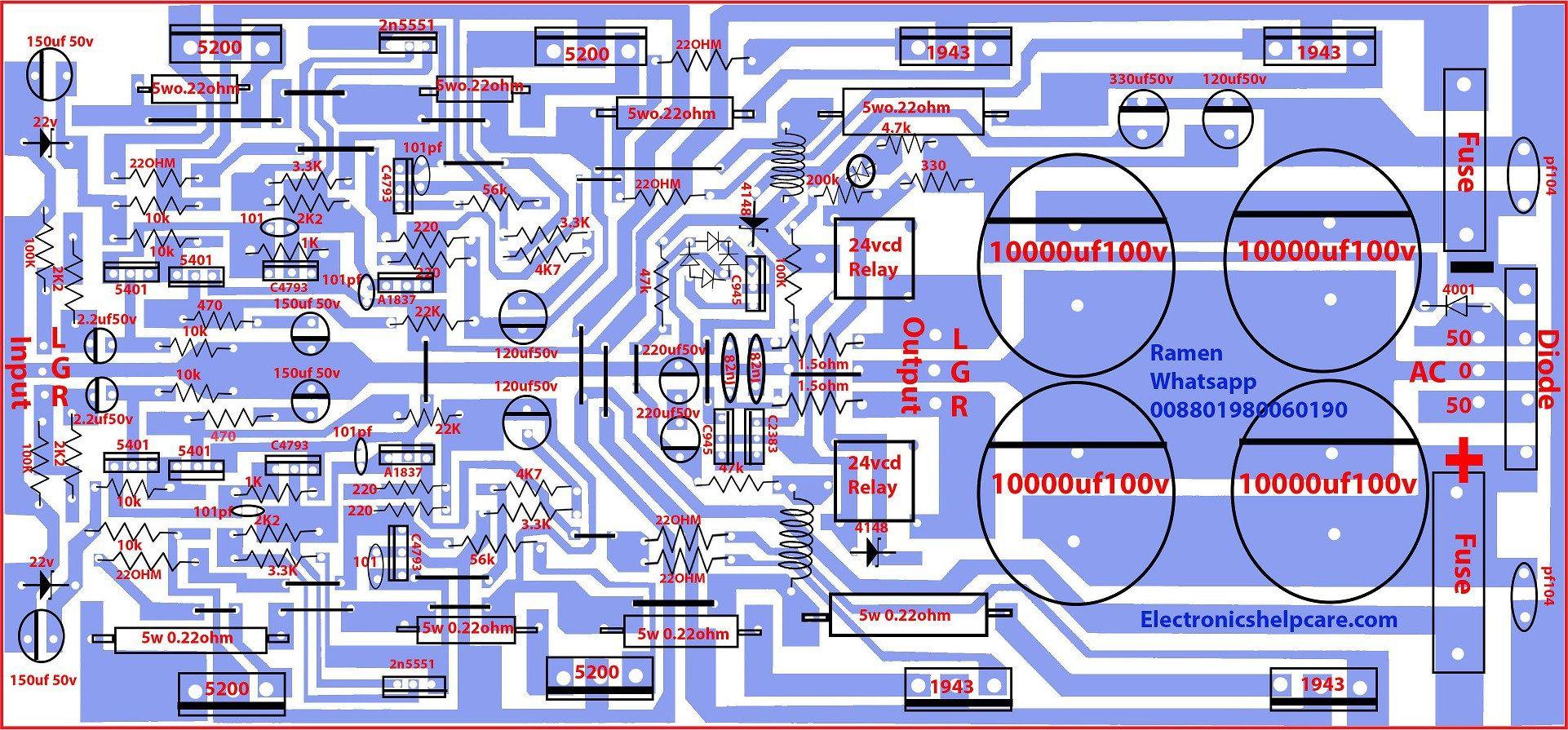 Audio Transistor Circuit Diagrams Wiring Schematics Diagram Of 2sa1943 And 2sc5200 1001 10000