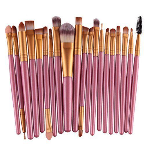 Feng Pro Wool Make Up Brush Set 20 pcs Makeup Brush Set t…