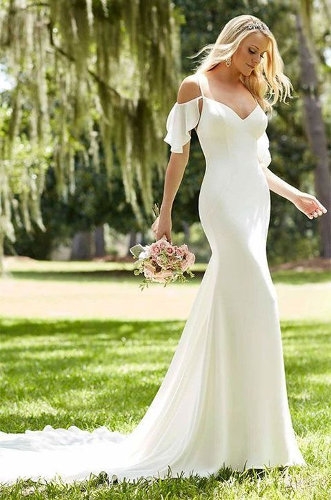 20 Flirty Cold Shoulder Wedding Dresses