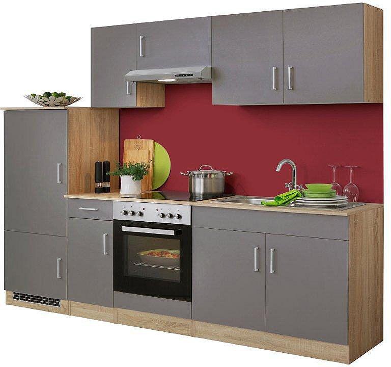 Küchenzeile, Held Möbel, »Melbourne«, Breite 260 cm, mit E-Geräten - küchenzeile 160 cm