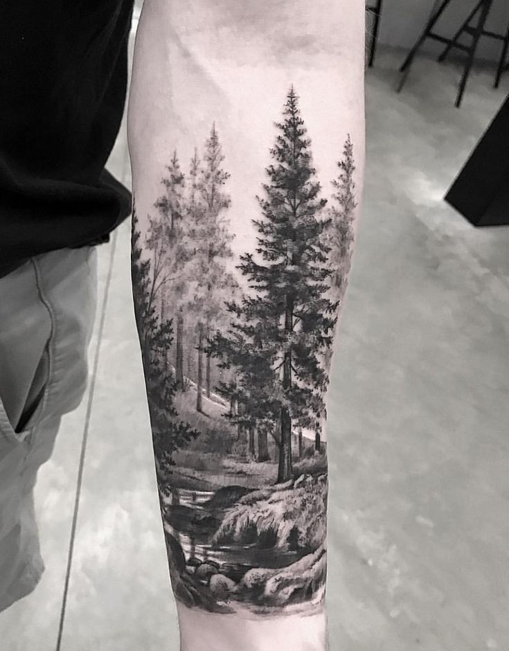 Awesome forest scenery for sleeve tattoo!??