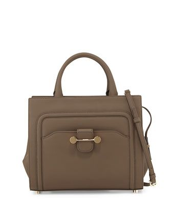 Daphne Rubberized Leather Tote Bag Brown By Jason Wu At Neiman Marcus