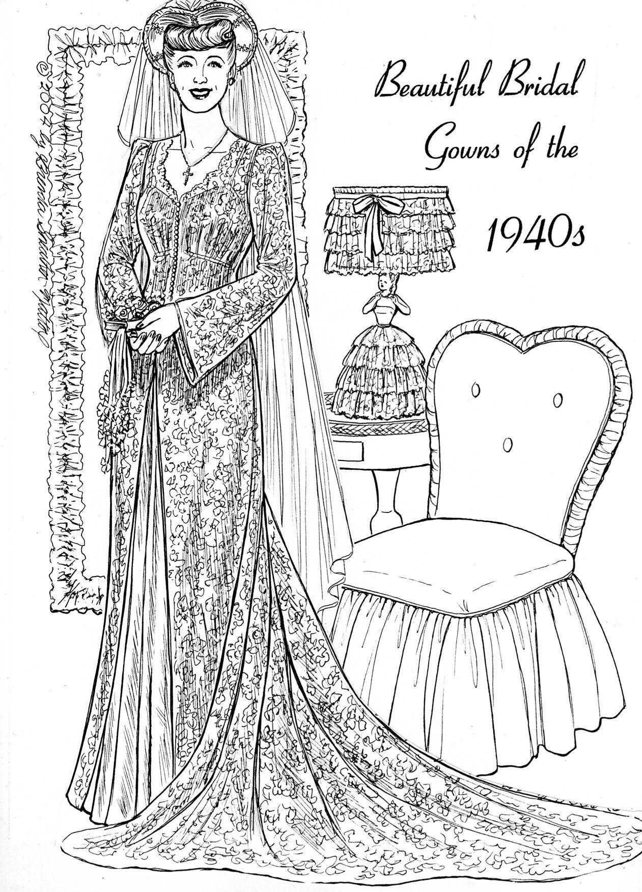 pin by fancy ephemera original paper dolls on beautiful bridal gown series princess coloring. Black Bedroom Furniture Sets. Home Design Ideas