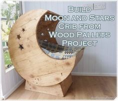 """Build Moon and Stars Crib from Wood Pallets Project  Homesteading  - The Homestead Survival .Com     """"Please Share This Pin"""""""