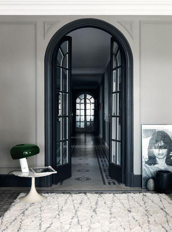Black arched french door   Jonas Ingerstedt