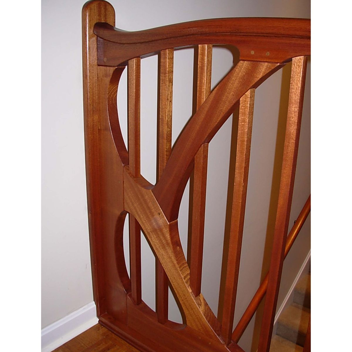 Best Art Nouveau Stair Railing Wood Railings For Stairs 400 x 300