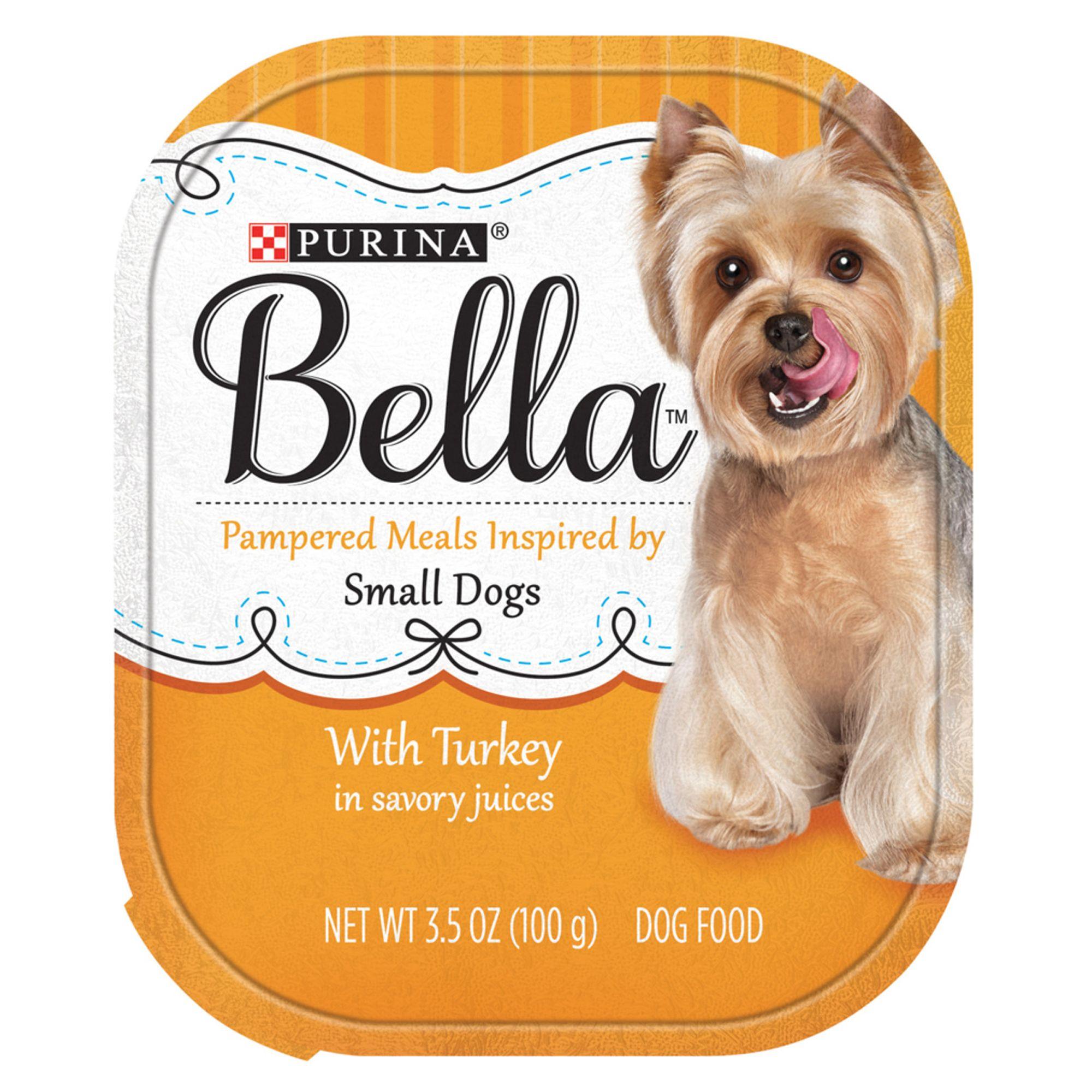 Purina Bella Small Dog Food Turkey Size 3 5 Oz Savory Juices