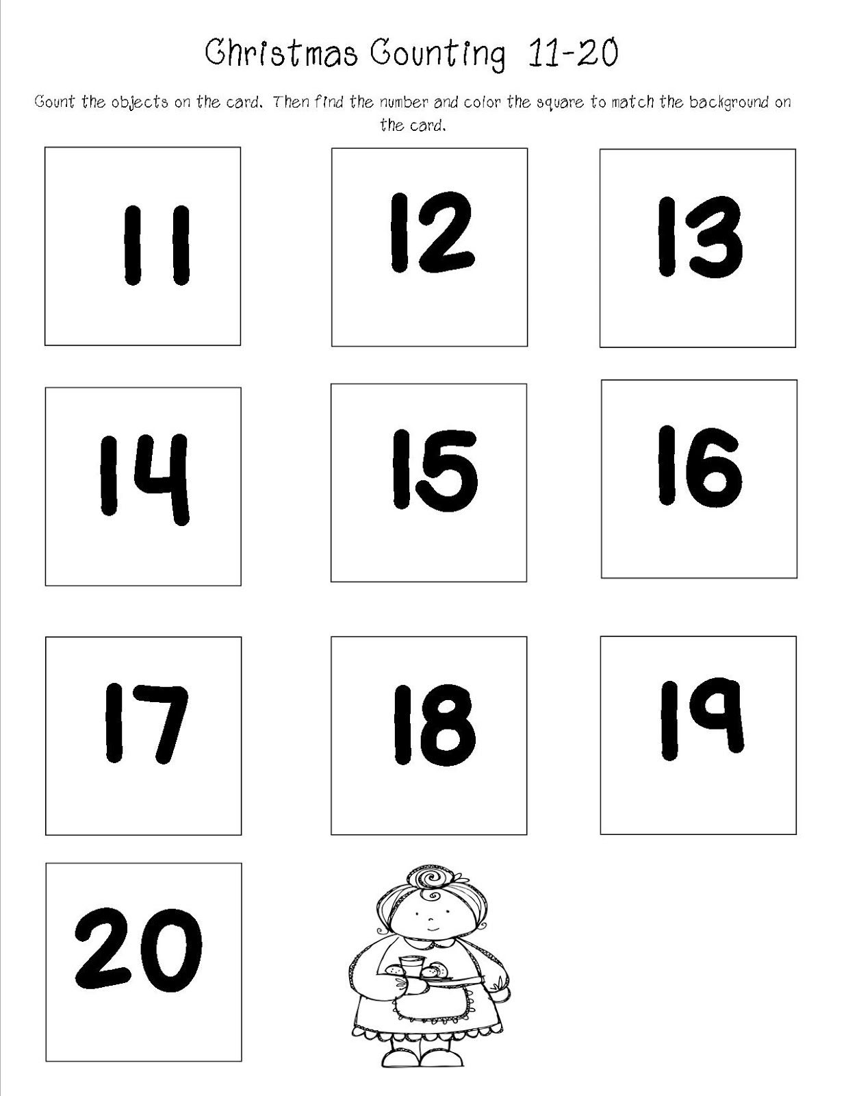 Number Cards 11 20