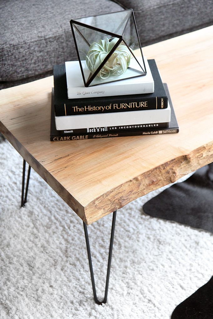 MY DIY | Wood Slab Coffee Table Hairpin Coffee Table Idea