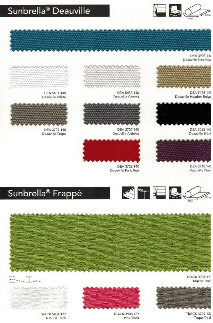 European Sunbrella Fabric Collection.  http://www.outdoorfabriccentral.com/sunbrella-european-collection.html