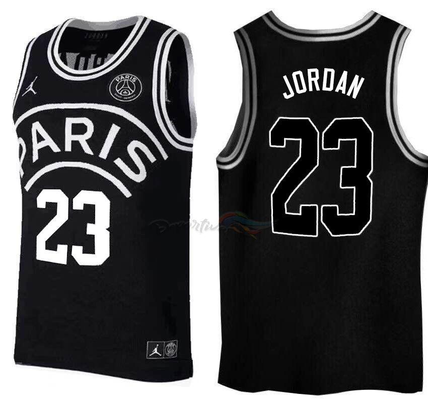 b749cdae Camisetas NBA Jordan x Paris Saint-Germain NO.23 Jordan Negro Logo Blanco  2018 Baratas #jordan jersey #paris jersey #joradanparis #jordan23 #paris23