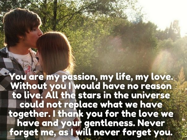 Romantic love you quotes for him