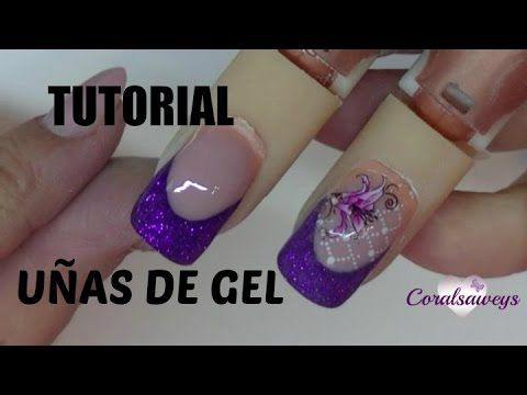 uas de gel decoradas con purpurina glitter nail youtube