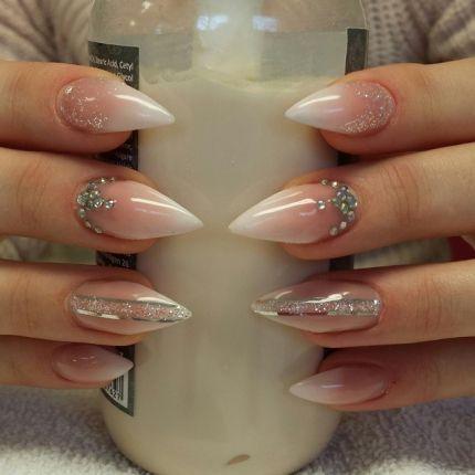 elegant bridal mani from abbylarsson  stiletto nails