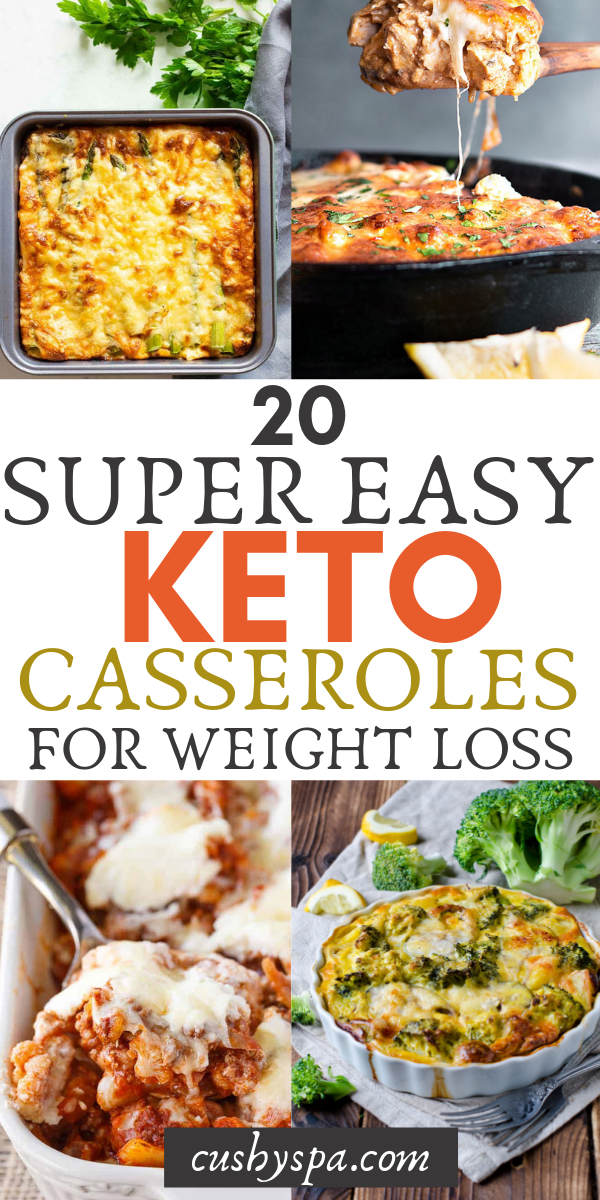 20 Super Easy Keto Casseroles for Weight Loss images