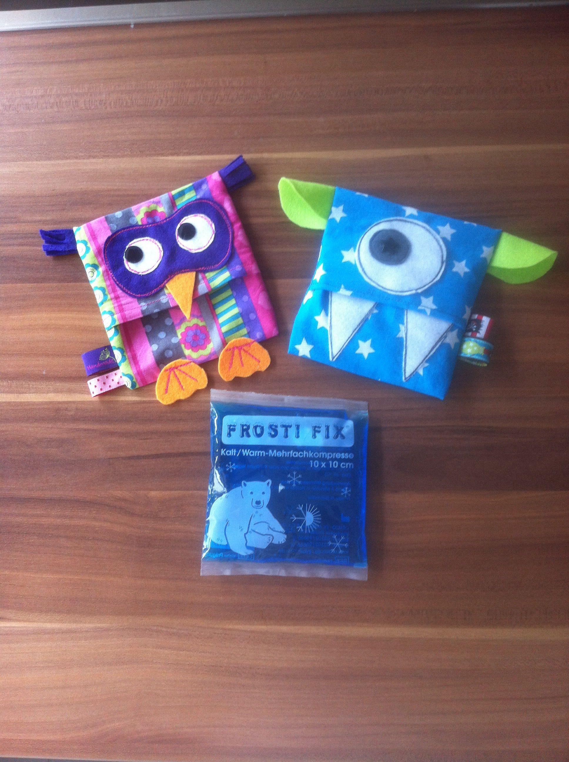Kühlschrank-Monster und /-Eule ... Hüllen für coolpacks | nähen ...