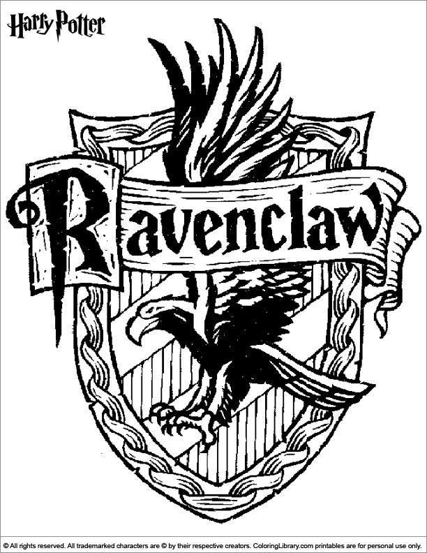 Harry Potter coloring page Omalovánky, Kresby, Havraspár