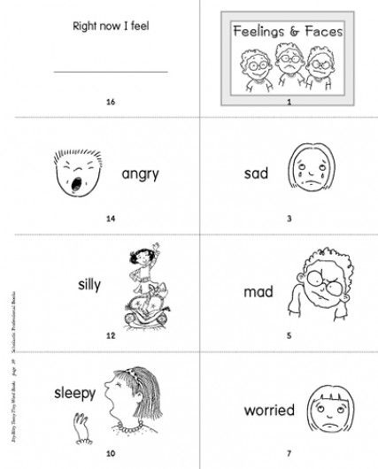 Minibook: Feelings and Faces | School psychology toolkit | Pinterest ...