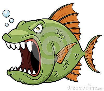 Angry Fish Cartoon Cartoon Fish Fish Vector Cartoon Drawings