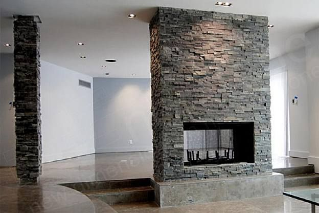 Modern Fireplace Mantel With Stone Veneer Panels For Unique Living Room Design With Led Light Modern Fireplace Modern Fireplace Mantels Stone Fireplace Mantel