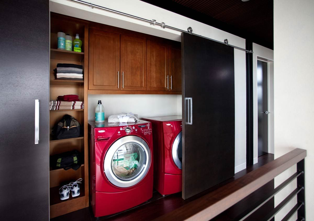 Laundry Closet Organization. Waypoint Living Spaces | Style 630F In Cherry  Chocolate Glaze. Kitchen