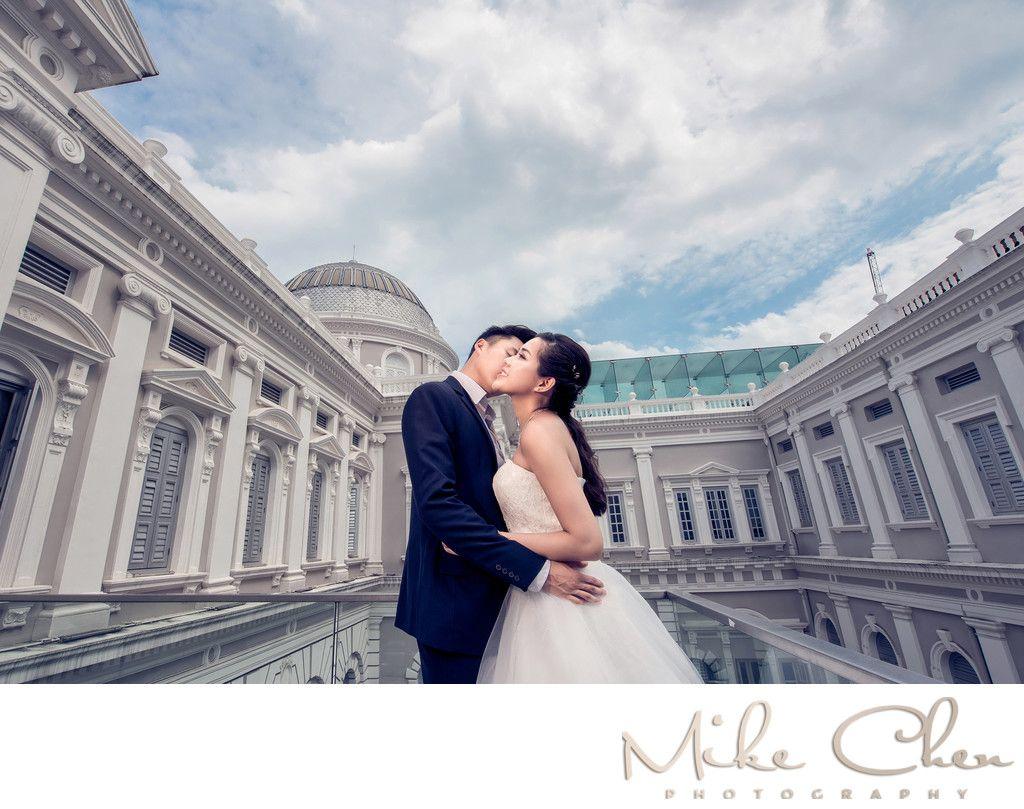 Pre wedding photoshoot at national museumoutdoor Sg