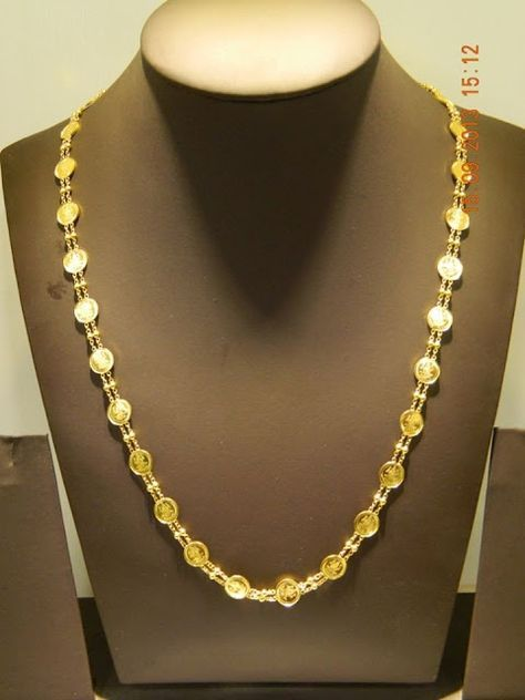 10 Gm Light Weight Lakshmi Chain Gold Chain Design Jewelry Necklace Simple Gold Jewellery Design Necklaces