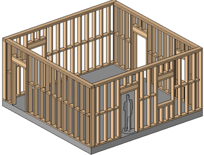revit wood framing walls extension - Wood Frame Wall
