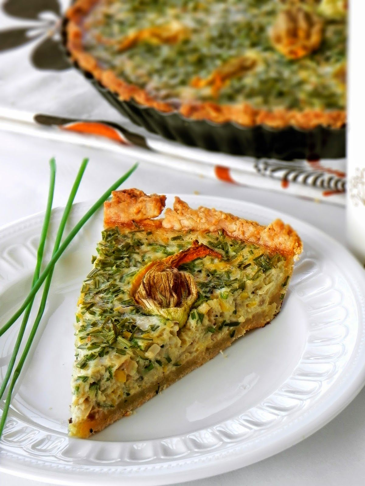 Fabryka Kulinarnych Inspiracji Tarta Z Cukinii Na Serowym Spodzie Recipes Food And Drink Cooking