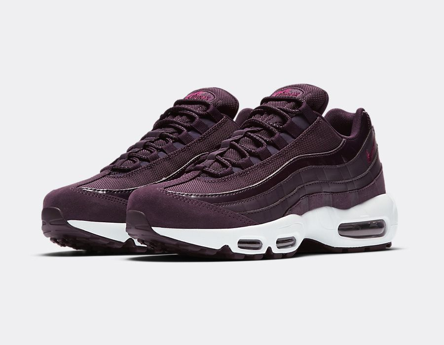 W Air Max 95 Port Wine Bordeaux Sneakers Fashion Sneaker Heels Nike Shoes Air Max
