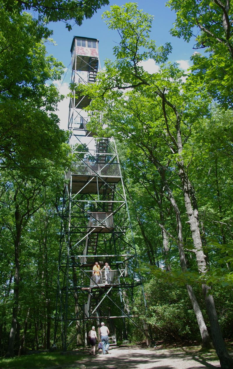 The 80-foot fire tower near Seneca Point Overlook in Cook Forest State Park was built in 1929 and gives a breathtaking view of the Clarion Valley.