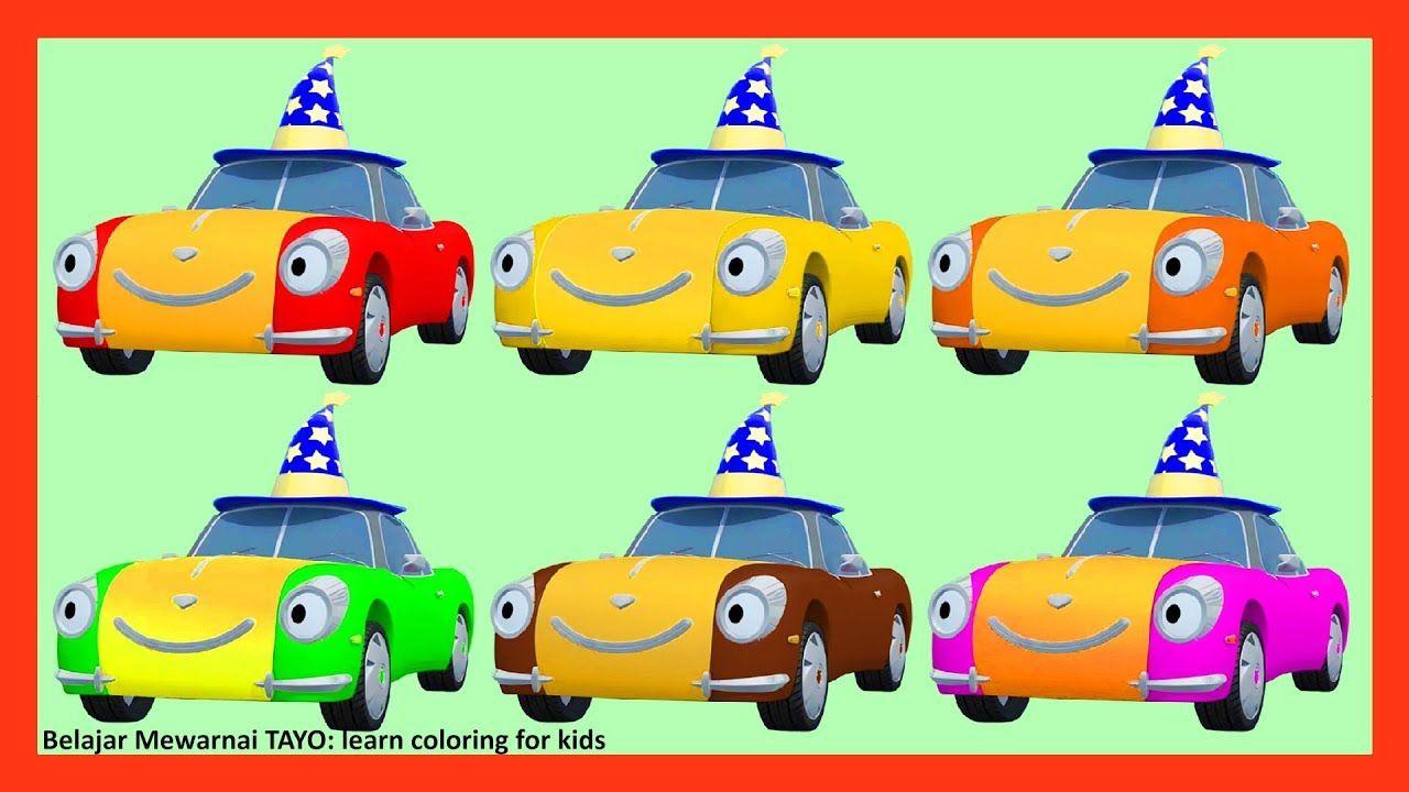 Learn Colors Lucy The Magic Car Belajar Mewarnai Tayo Learn