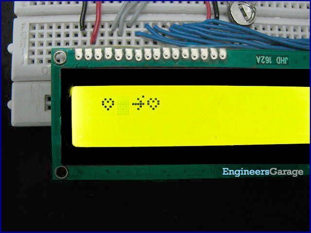 How to display custom animations on 16x2 LCD using 8051