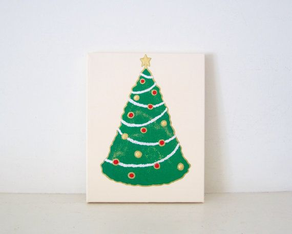 CHRISTMAS TREE - Ivory Christmas Tree Wall Art - Ivory Christmas ...