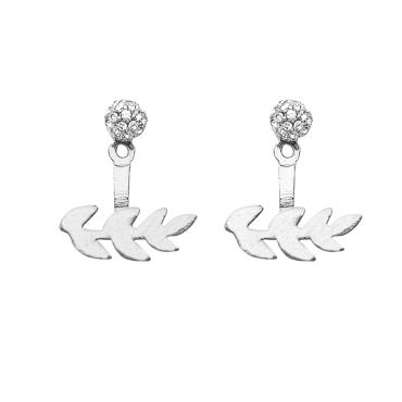 Gardenia Earrings in Silver– available in gold and silver.$24.00 Get 25% off these earrings with coupon code 'foxy pin'  http://www.foxyoriginals.com/Gardenia-Earrings-in-Silver-2.html #silverjewelry, #silverearrings, #foxyoriginals, #earjackets, #sistergift, #jewelrygift, #silverearjackets, #holidaygift, #birthdaygift, #teenagergift, #momgift, #paveearjackets, sister gift, jewelry gift, best friend gift, holiday gift, teenager gift, mom gift, graduation gift, birthday gift, ear jackets
