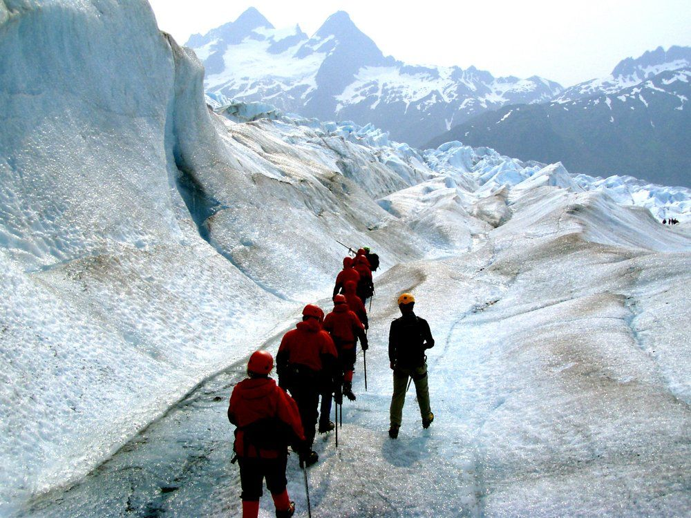 Trek along on a guided glacier tour in Juneau, Alaska