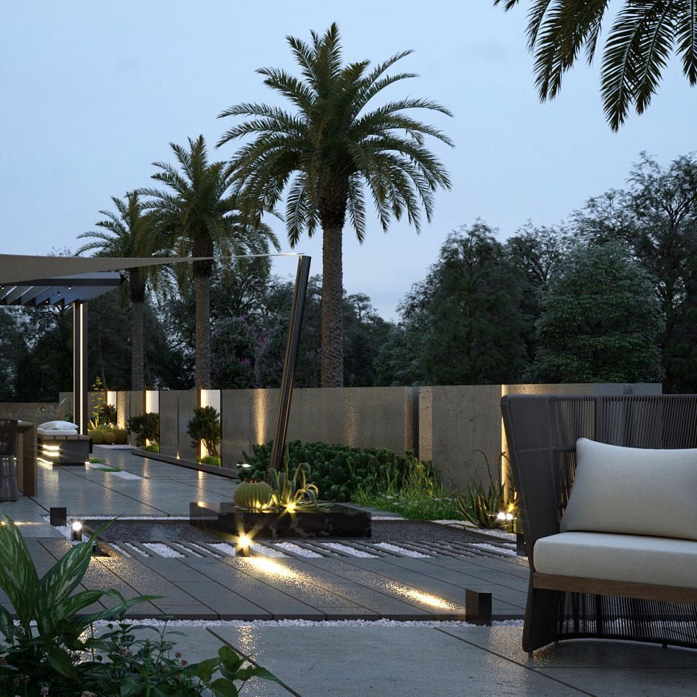 Modular Landscape 675 Sqm Kuwait تصميم حديقة خارجية لمنزل في منطقة قرطبة مساحة