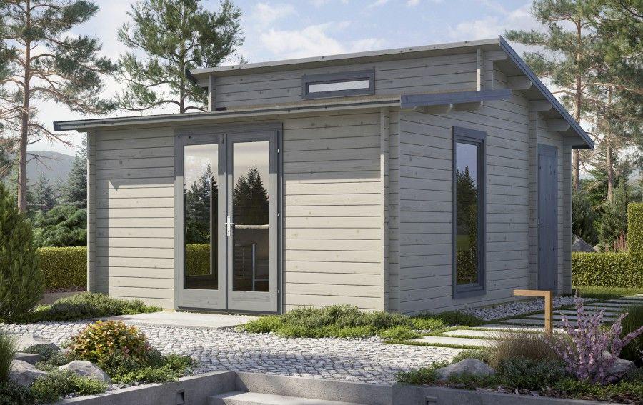 Gartenhaus Modell Scandic40ISO 2Raum Gartenhaus