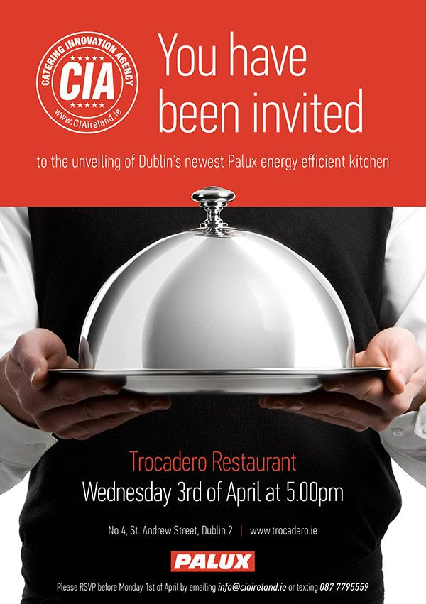 CIA Catering Innovation Agency Ireland online email invite design - invitation unveiling